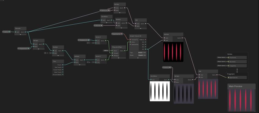 A shader graph window